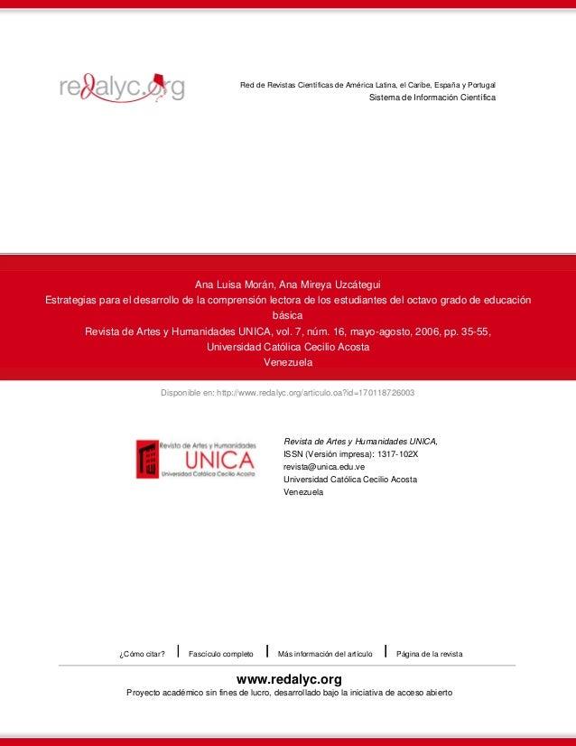 Disponible en: http://www.redalyc.org/articulo.oa?id=170118726003 Red de Revistas Científicas de América Latina, el Caribe...