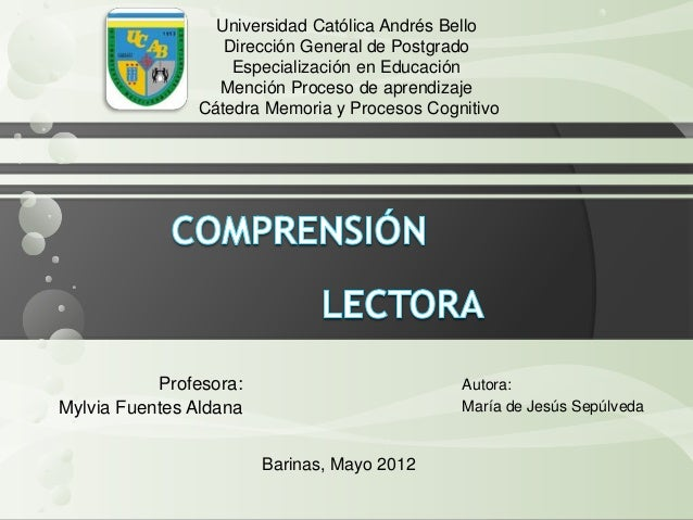 Universidad Católica Andrés Bello Dirección General de Postgrado Especialización en Educación Mención Proceso de aprendiza...