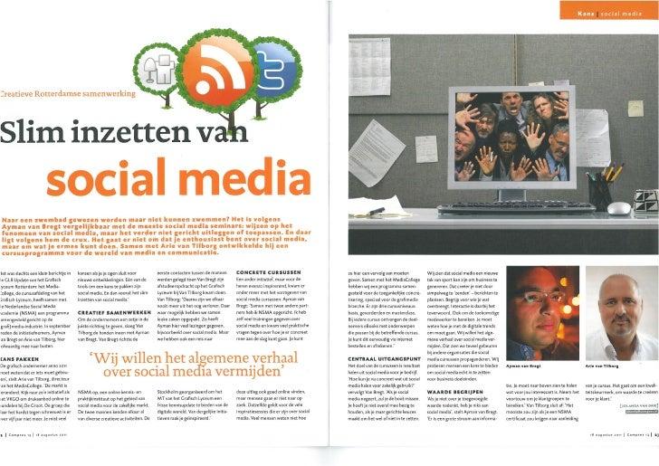 Artikel Compres | slim inzetten van social media | Nederlandse Social Media Academie