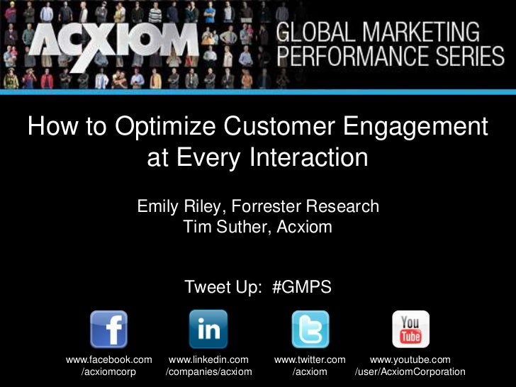 Optimize Customer Engagement At Every Interaction - Acxiom GMPS 9/15/10