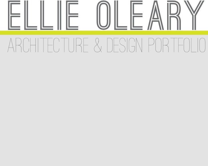 ellie olearyarchitecture & design portfolio