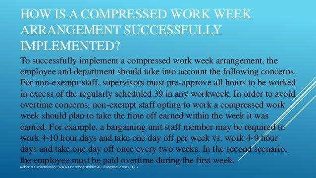 compressed work week proposal template - compressed workweek