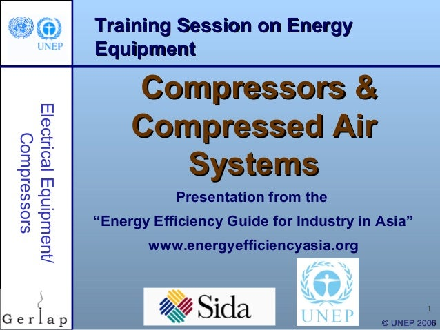 Training Session on Energy                        Equipment                             Compressors &Electrical Equipment/...