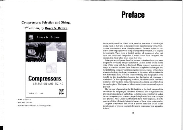 Compressors selection and sizing