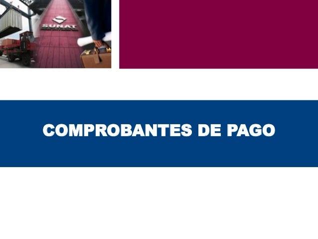 COMPROBANTES DE PAGO