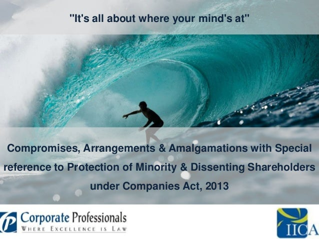 """It's all about where your mind's at""  Compromises, Arrangements & Amalgamations with Special reference to Protection of M..."