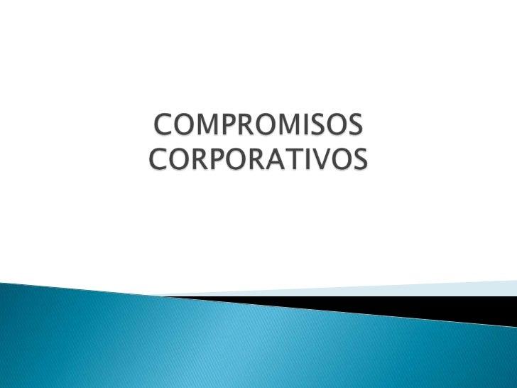 Compromisos corporativos, revisión inicial, política ambiental