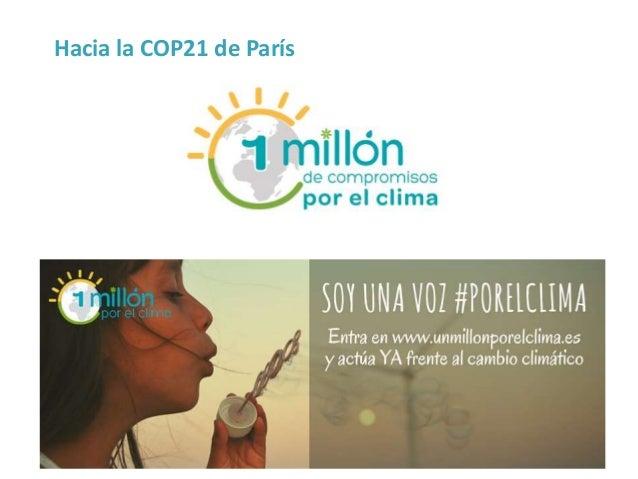 Hacia la COP21 de París