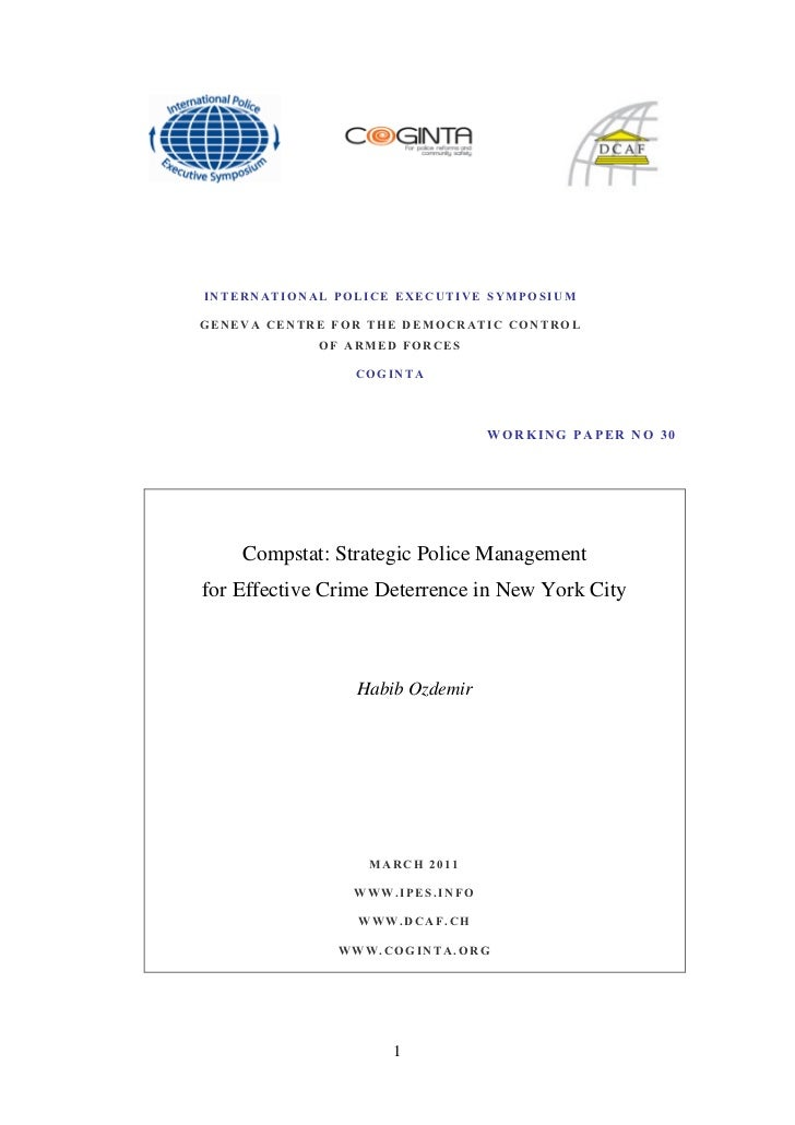 Compstat strategic police management for effective crime deterrence in new york city