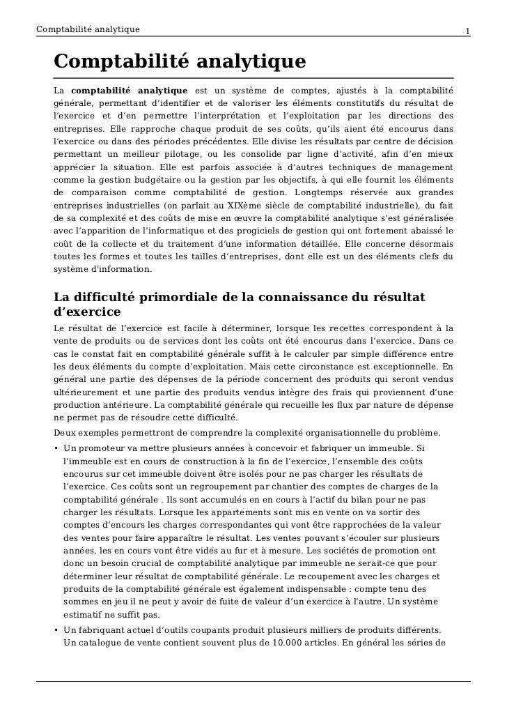 Comptabilité analytique                                                                            1   Comptabilité analyt...