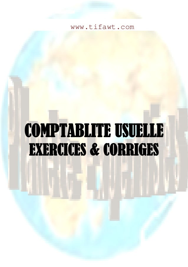 Comptabilite generale exercices et corriges 1
