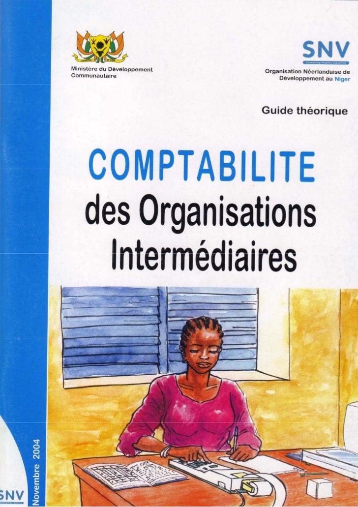Tenir la comptabilité des organisations intermédiaires   Page 1 sur 58