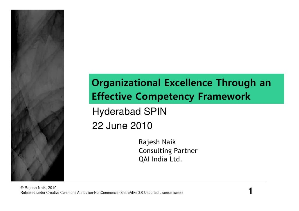 Organizational Excellence Through an                                           Effective Competency Framework             ...