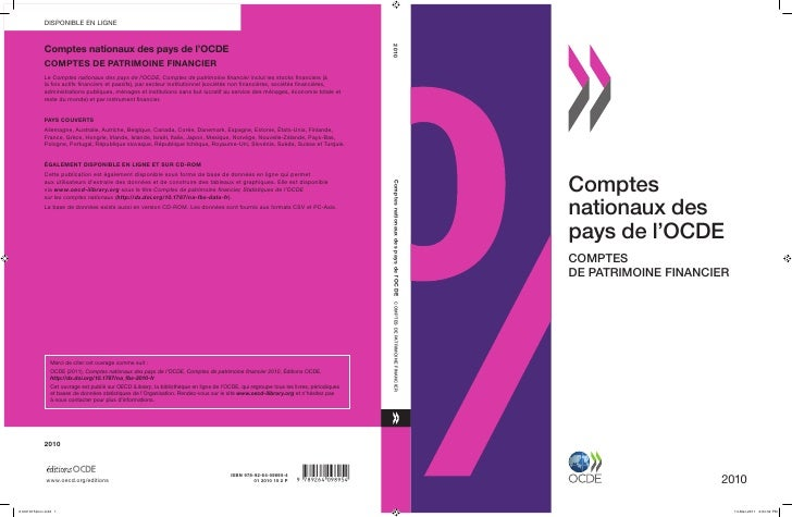 Comptesnationaux despays de l'OCDECOMPTESDE PATRIMOINE FINANCIER                     2010