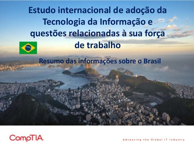 International Technology Adoption & Workforce Issues Study - Brazilian Summary in Portuguese