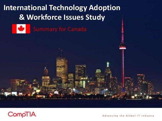 International Technology Adoption& Workforce Issues StudySummary for Canada