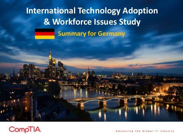 International Technology Adoption& Workforce Issues StudySummary for Germany