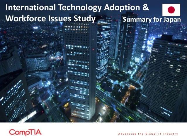 International Technology Adoption & Workforce Issues Study Summary for Japan