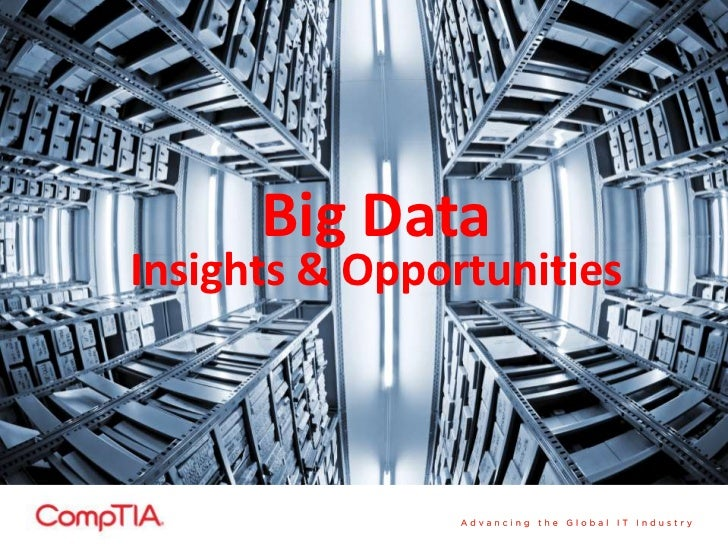 Big DataInsights & Opportunities