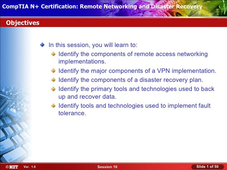 CompTIA N+ Certification: Remote Networking and Disaster Recovery Installing Windows XP Professional Using Attended Instal...