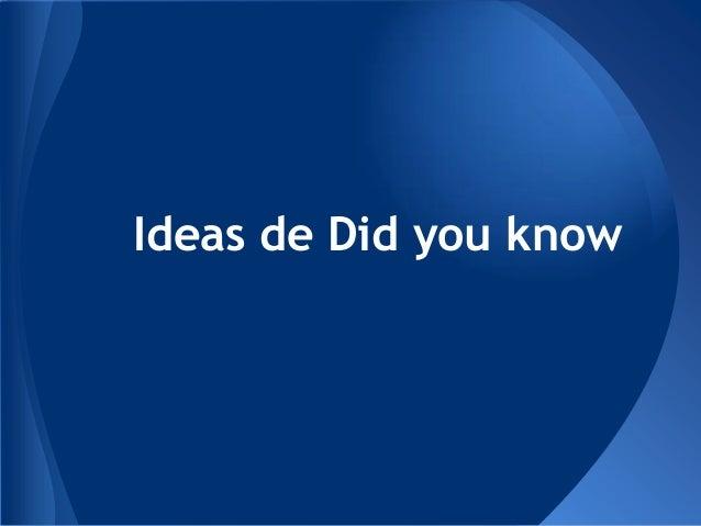 Ideas de Did you know