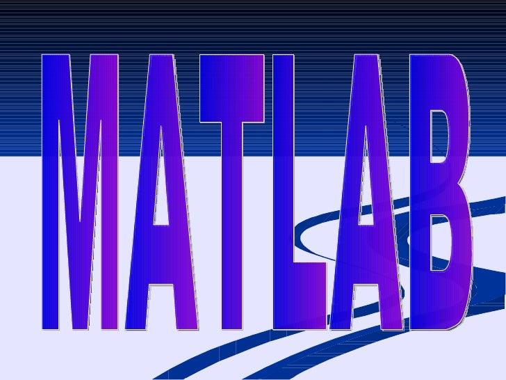diapositivas de matlab