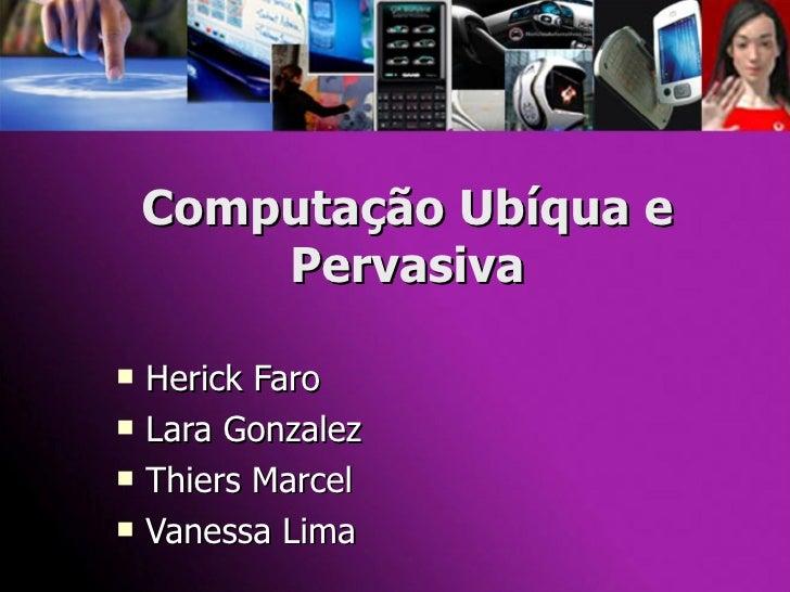Computação Ubíqua (Versão Final)