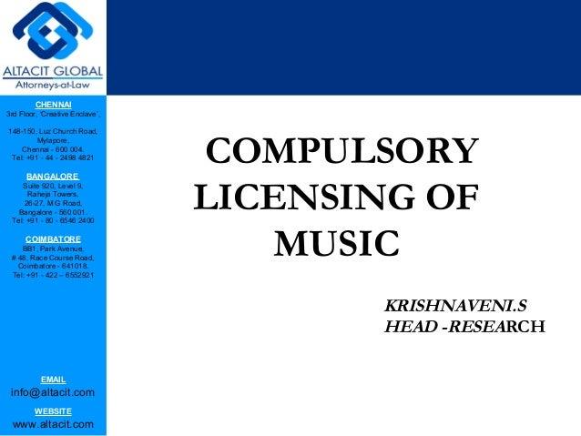 Compulsory licensing of music