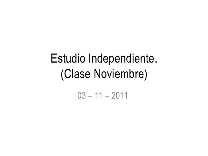 Clase práctica -Noviembre-