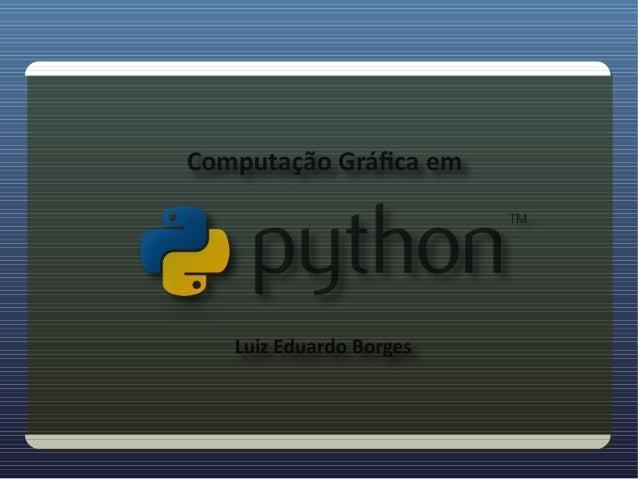 Computacao grafica python v2
