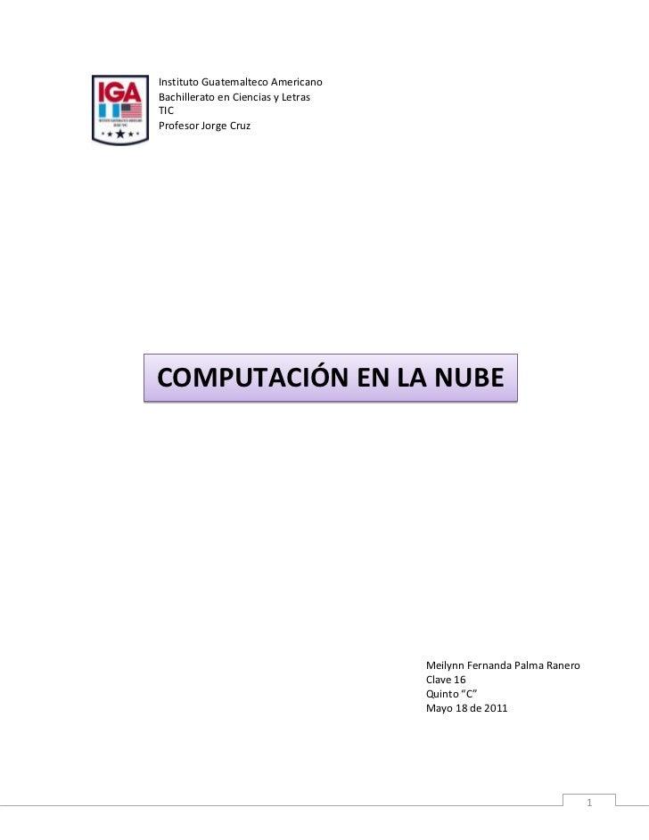 lefttopInstituto Guatemalteco Americano<br />Bachillerato en Ciencias y Letras<br />TIC<br />Profesor Jorge Cruz<br />6419...