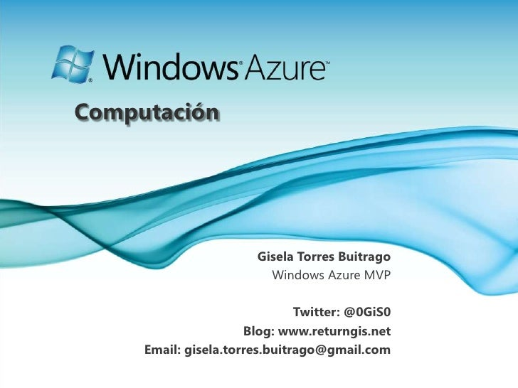 Computación en Windows Azure Platform 26 01-2011