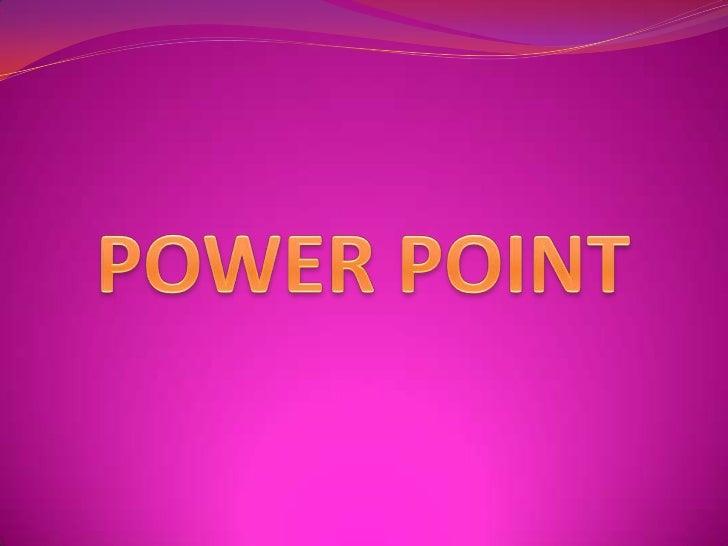 //**Índice**// 1) ¿Qué es el PowerPoint?        *Continuación.  2) Características de           -insertar imágenes    Powe...