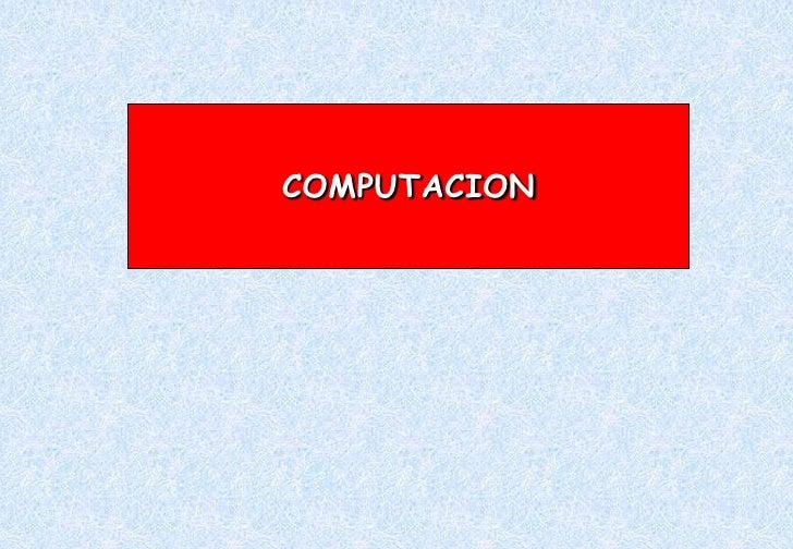 COMPUTACION<br />