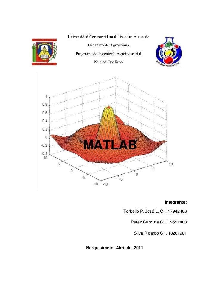 Universidad Centroccidental Lisandro Alvarado<br />Decanato de Agronomía<br />Programa de Ingeniería Agroindustrial<br />N...