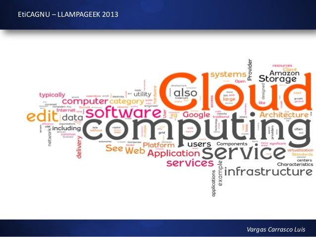 III LLAMPAGEEK 2013: Cloud Computing.