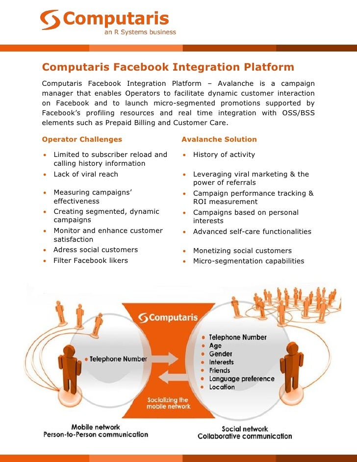 Computaris Facebook Integration PlatformComputaris Facebook Integration Platform – Avalanche is a campaignmanager that ena...