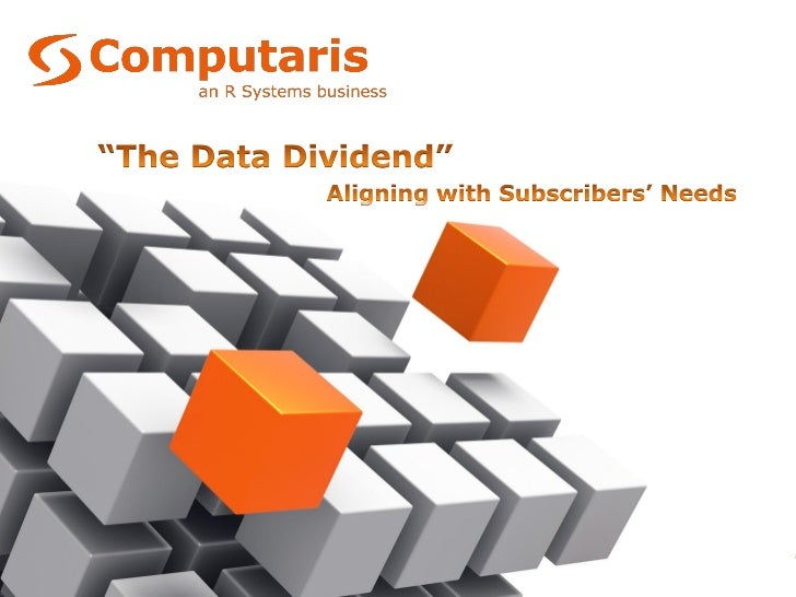 Computaris – The Data Dividend