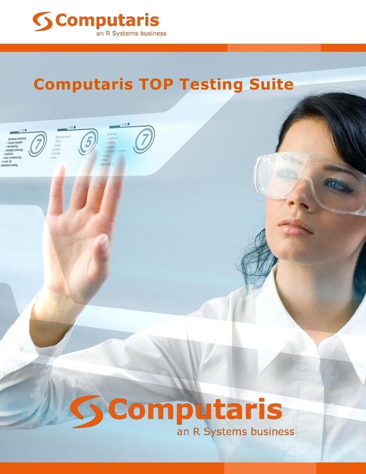 Computaris Top Testing Suite Datasheet