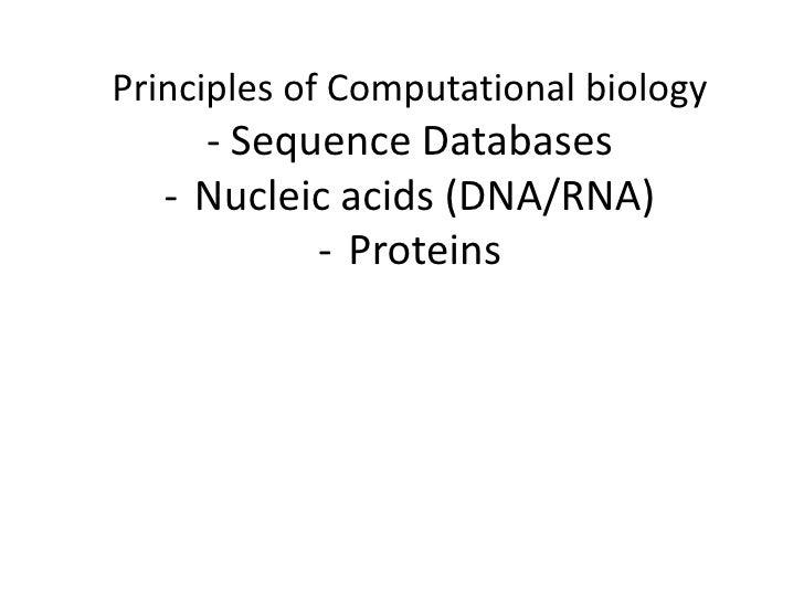Computational biology bls 303