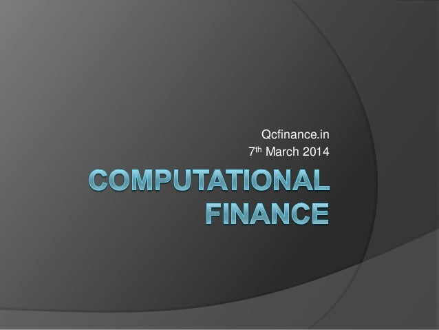 Computational financev2