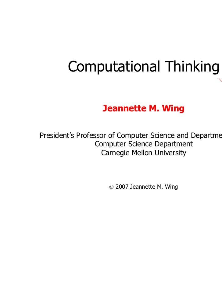 IT_Computational thinking