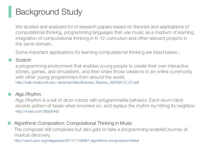 A Background Of The Study For Composing A Research Paper
