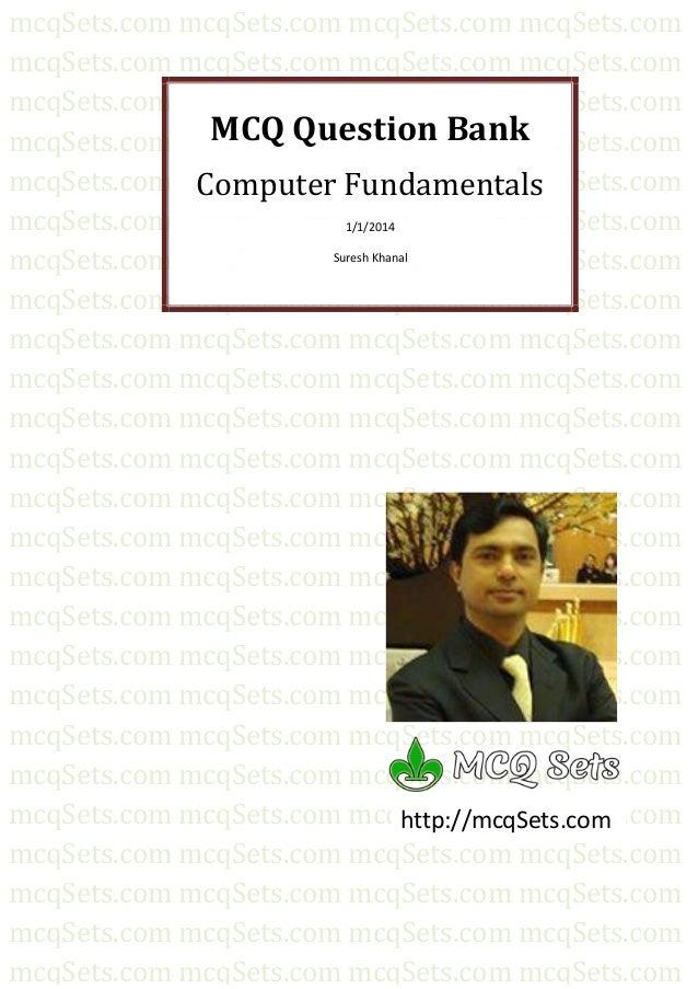 MCQ Bank for Computer Fundamantals from mcqSets.com