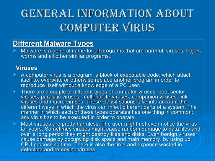 definition of computer virus and its types pdf