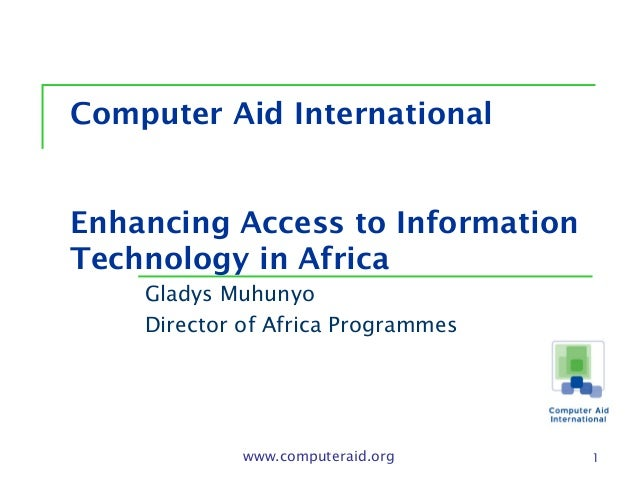 Expanding access to information technology in Africa