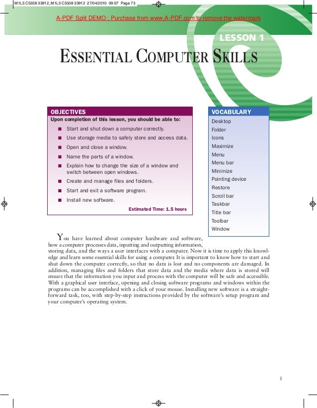 M1L5 C5338 33912_M1L5 C5338 33912 27/04/2010 09:07 Page 73                    A-PDF Split DEMO : Purchase from www.A-PDF.c...