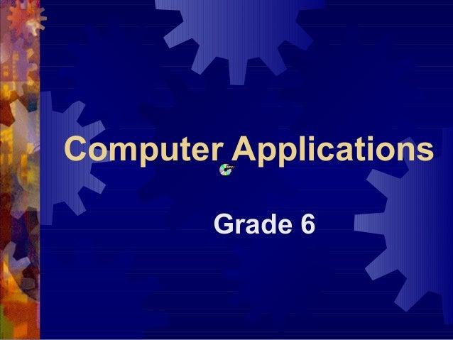 Computer Applications Grade 6