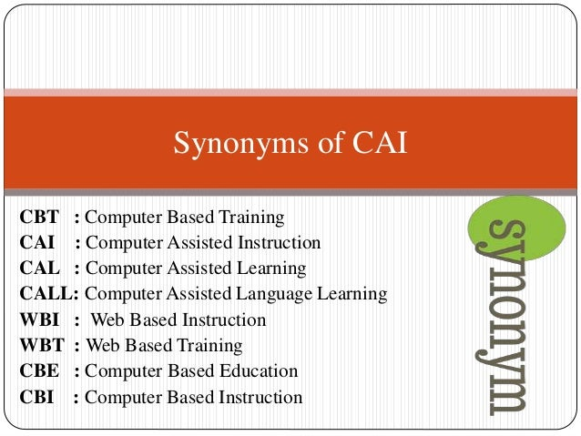 computer and computer assisted instruction This study evaluates the effectiveness of wordmaker phonics software the  teachers worked together to examine the use of computer-assisted instruction ( cai).