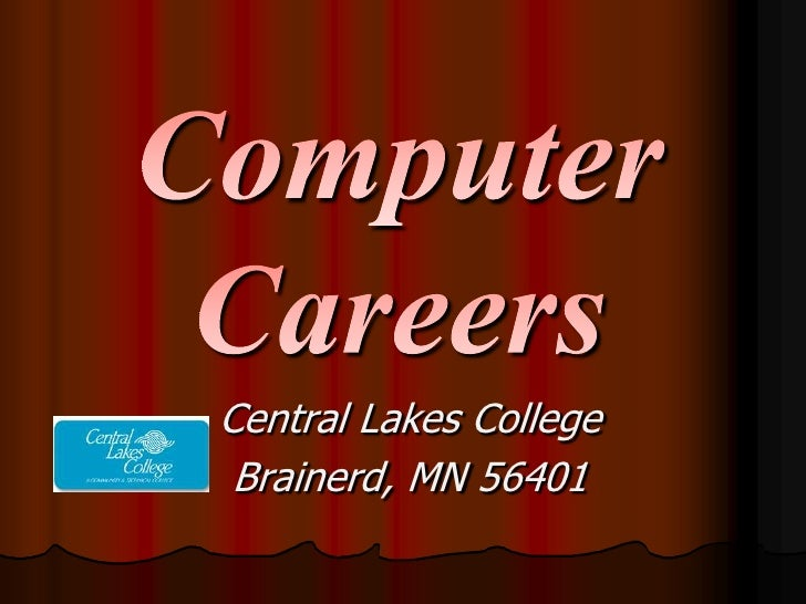 Computer Careers At Clc